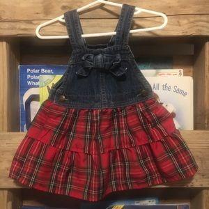 OshKosh B'gosh Dresses - Plaid OshKosh B'gosh Overall Dress